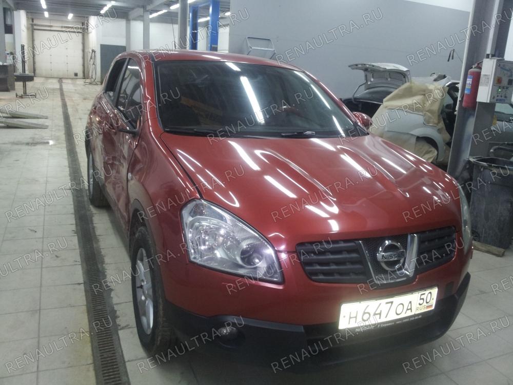 Смотреть подробности о ремонте Nissan Qashqai Ремонт правой стороны кузова, покраска заднего бампера.