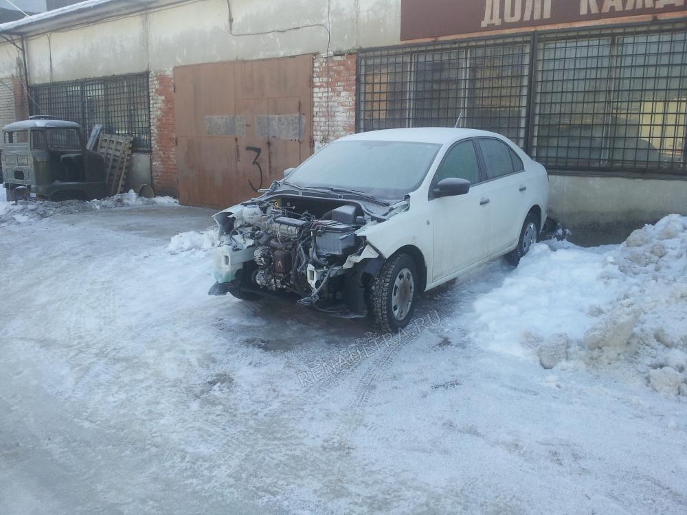 Смотреть подробности о ремонте Шкода Рапид 2014 год Удар в переднюю часть автомобиля.