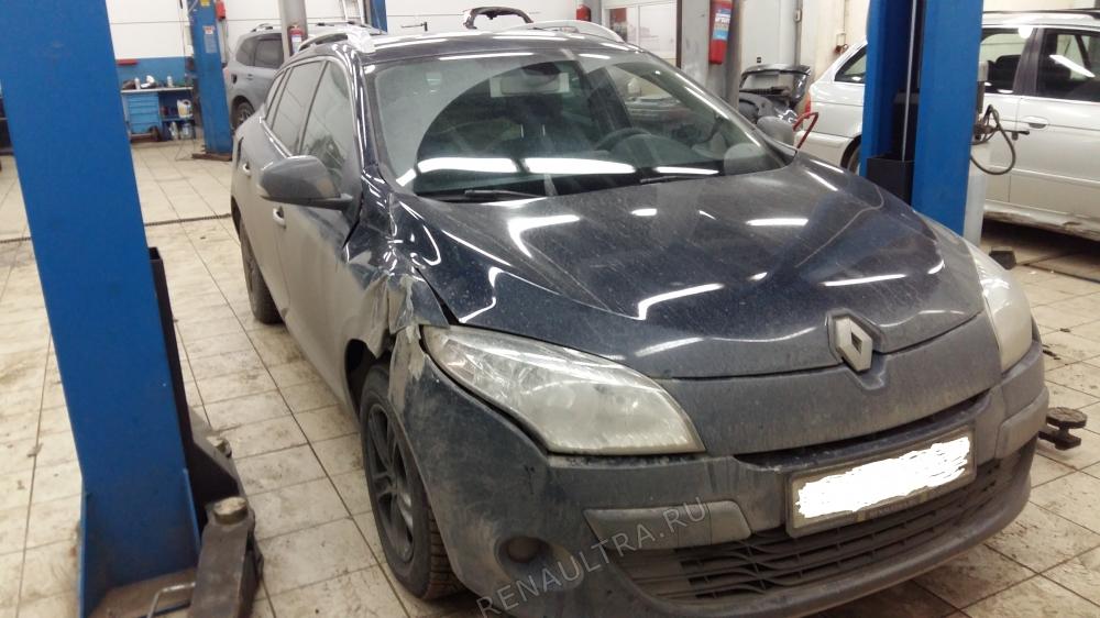 Смотреть подробности о ремонте Renault Megane III Удар в переднюю правую часть