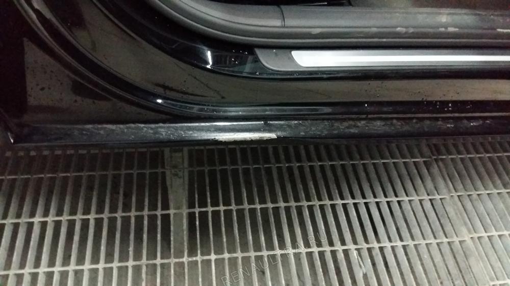 Audi A4 2012 г.в. / Ремонт заднего правого крыла, правого порога, заднего бампера. / СТО Р-Кузов / до ремонта