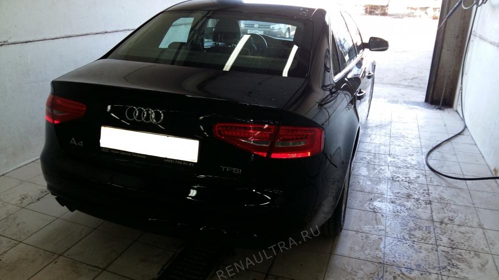 Audi A4 2012 г.в. / Ремонт заднего правого крыла, правого порога, заднего бампера. / СТО Р-Кузов / после ремонта