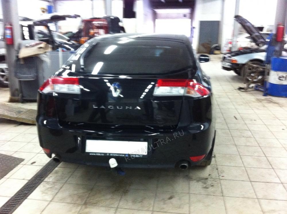 Renault Laguna III / Покраска заднего бампера, ремонт задней панели. / СТО Р-Кузов / после ремонта