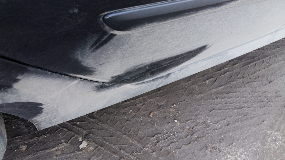 Renault Laguna III / Покраска заднего крыла, задней двери, заднего бампера. / СТО Р-Кузов / до ремонта
