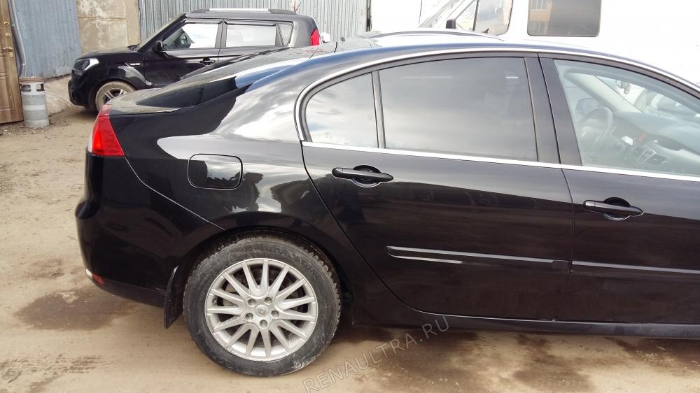 Renault Laguna III / Покраска заднего крыла, задней двери, заднего бампера. / СТО Р-Кузов / после ремонта